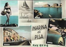 Toscana-pisa-marina Di Pisa Vedute Saluti Da Marina Di Pisa Anni 50 - Italia