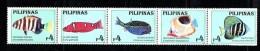Philippines 1996 MARINE LIFE AQUARIUM Fishes II  5V  MNH** - Peces