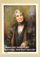 England Royal Mail Stamps 2006 Emmeline Pankhurst National Portrait Gallery - Briefmarken (Abbildungen)