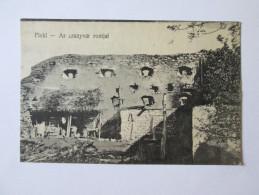 20's PISKI-SIMERIA/ROMANIA-ARANY RUINS/RUINELE CETATII ARANY,UNUSED POSTCARD - Roemenië