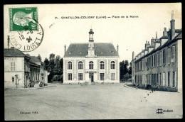 Cpa Du 45 Chatillon Coligny -- Place De La Mairie   JIP1 - Chatillon Coligny