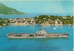CPA-1987-NAVIRE GUERRE-PORTES-AVIONS-CLEMENCEAU-en Rade De VILLEFRANCHE 06-Lors Revue Navale Flotte MEDITERRANEE-TBE - Guerre