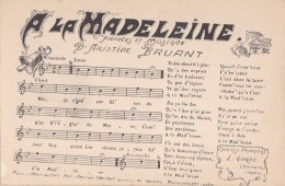 PARIS XVIII° Bd  ROCHECHOUART CABARET BRUANT Piano Et CHANT CPA Chanson A LA MADELEINE Musique Et Paroles - Arrondissement: 18