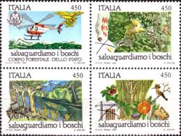 """ITALIA REPUBBLICA - 1984. SERIE COMPLETA """"SALVAGUARDIA DELLA NATURA"""" (S.407) NUOVA* * - 1946-60: Mint/hinged"""