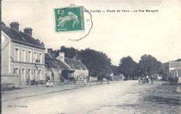 LOIRET - 45 - DORDIVES- Route De Paris - La Rue Mangine - Dordives
