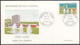 Ivory Coast Abidjan 1966 / FDC / Hotel Ivoire - Hôtellerie - Horeca