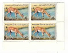 Ph-Libye-Libya-bloc De 4-Gazelle Leptoceros - Libya