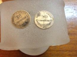 2 Pièces De 20 Centesimi 1863 Argent - 1861-1878 : Victor Emmanuel II
