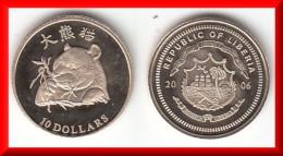 UNC - NEUVE **** LIBERIA 10 DOLLARS 2006 OURS PANDA - OR - GOLD ****  EN ACHAT IMMEDIAT !!! - Liberia