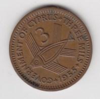 @Y@    Cyprus   3  Mills    1955    (3095) - Cyprus