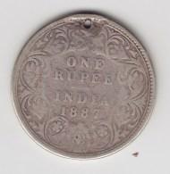 @Y@    India  1 Rupee  1887    (3098) - Inde