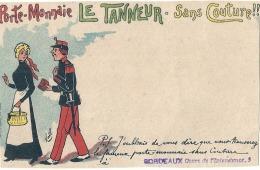Porte Monnaie Sans Couture - Le Tanneur Illustrateur KARL  - Carte Précurseur Revendeur Bordeaux -bordure Irréguliere - - Illustrateurs & Photographes