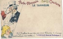 Porte Monnaie Sans Couture - Le Tanneur Illustrateur Blum  - Carte Précurseur Revendeur Bordeaux - Autres Illustrateurs