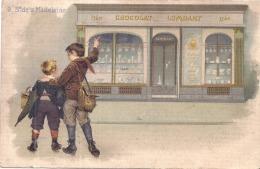 CPA - Chocolat LOMBART   Boulevard De La Madeleine  Un Peu Sale Peu Courante - Autres Illustrateurs