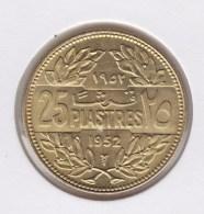 @Y@   Libanon  25 Piaster  1952  Unc    (3103) - Liban