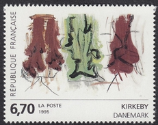 FRANCE Francia Frankreich - 1995 - Yvert 2969, œuvre Originale De Per Kirkeby, Neuf, Parfait - Nuevos