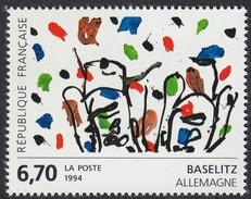 FRANCE Francia Frankreich - 1994 - Yvert 2914, Œuvre De Georg Baselitz, Neuf, Parfait - Nuevos