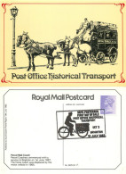 1887, Royal Parcel Mail Coach, Transport Postcard Posted 1982 Stamp - Altri