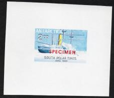 Antarctica Post South Polar Times Proof Specimen Overprint - Stamps