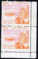 Antarctica Post Hillary Expedition Missing Color Flaw. - New Zealand