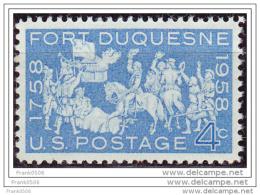 USA 1958, Fort Duquesne, MNH - Vereinigte Staaten