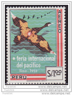 PERU 1959, Airmail, Aereo Feiria Internacional Del Pacifico, MNH - Peru