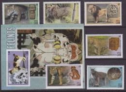 2015.159 CUBA 2015 MNH + HF FELINOS FELINE LION LEOPARD CAT TIGER LEON GATO - Ongebruikt