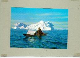 CP.  KAJAKMAND  I  ISFJORDEN  VED  JAKOBSHAVN.  KAYAKMAN  IN  THE  ICEFJORD  AT  JAKOBSHAVN - Groenlandia