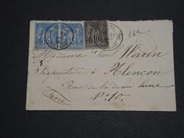 FRANCE - Enveloppe En Recommandée Du Calvados Pour Alençon En 1885 , Type Sages - A Voir - L 2766 - 1877-1920: Semi Modern Period