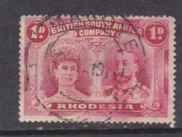 Southern Rhodesia: B.S.A.C, 1910, Double Head, 1d Carmine Perf 15, MAGOYE  C.d.s. - Southern Rhodesia (...-1964)