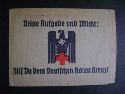 """RARE ENVELOPE HEADED """"HELP The German Red Cross,"""" Your Task OBLIGATION AND, AS - Rotes Kreuz"""