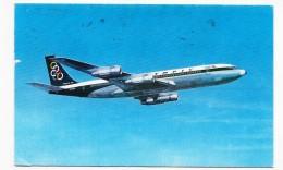 (RECTO / VERSO) BOEING 707 - SUPER FAN JET EN 1973 - OLYMPIC AIRWAY - 75 - FORMAT CPA - 1946-....: Ere Moderne