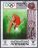 Yemen Kingdom 1969 - Munich Olympics : Diving ( Mi 909 - YT Pa105.2 ) Airmail