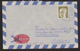 A 34) BRD Mi# 644 EF Hamburg: G. Heinemann (1 DM); LuPo Nach Uruguay - BRD