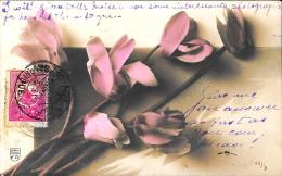[DC3294] CPA - FIORI - CARTOLINA AUGURALE - VIaggiata - Old Postcard - Fiori