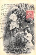 [DC3300] CPA - LA CUEILLETTE - Viaggiata 1908 - Old Postcard - Fiori