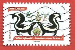 FRANCIA REPUBBLICA - 2014 - Scared Skunk: Block Your Nose! - DA LIBRETTO - 20 G. - Michel FR 5986 - France