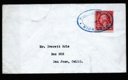 A4237) US Cover With Sea Post Cancellation Vanbar - Vereinigte Staaten