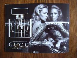 Gucci Premiere Madame Parfum Carte Postale Avec Noir Envelope And Patch Inside - Perfume Cards