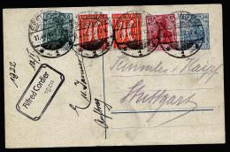 A4239) DR Infla Karte Von Esslingen 11.1.22 Nach Stuttgart - Deutschland