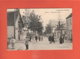 * CPA..dépt 21..SAULIEU :  Avenue De La Gare  :  Voir Les 2 Scans - Saulieu