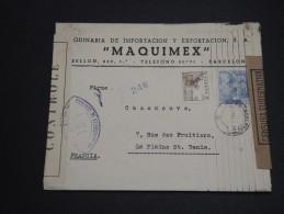 ESPAGNE- Enveloppe Commerciale De Barcelone Pour La France En 1945 Avec Divers Contrôles Postal - A Voir - L 2810 - Republikanische Zensur