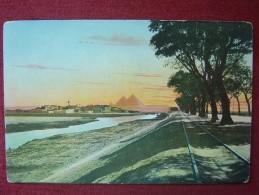 EGYPT / CAIRO - THE ROAD TO THE PYRAMIDS / 1910-20 - Kairo