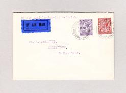 Schweiz Luftpost Handley Page 6.10.1923 London Via Paris Nach Zweisimmen - Premiers Vols