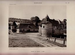 1927 - Héliogravure - Bures-en-Bray (Seine-Maritime) - Le Manoir De Tourpes -  FRANCO DE PORT - Alte Papiere