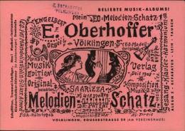 1955, Werbung Für Musikalienhandlung Mit 15 Und 18 F Volksbefragung Vom Ersttag, SAARBRÜCKEN, Völklingen - Musik