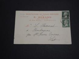 FRANCE - Carte Commerciale De Paris Pour Ambeyrac En 1924 - A Voir - L 2827 - Perforés