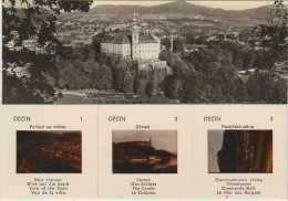 Czech And Slovak Socialist Republic CSSR - 3 Slides - Postcard Orbis 1966 - Decin - Postkaarten