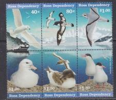 Ross Dependency 1997 Sea Birds 6v Se-tenant ** Mnh (32245) - Ongebruikt