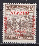 HUNGARY,SZEGED , 20 FILLER MNH - Szeged